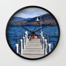 Lake George Pier Wall Clock