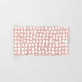 Dots / Pink Hand & Bath Towel
