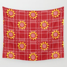 Red Hot Sunny Days Wall Tapestry