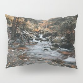 Autumn Creek - Landscape and Nature Photography Pillow Sham
