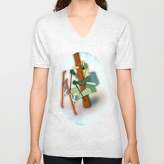 Why Unicorn Don't Ski Unisex V-Neck