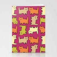 cartoon Stationery Cards featuring Cartoon Kitties by Irina  Romanovsky