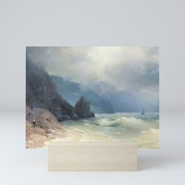 12,000pixel-500dpi - Ivan Aivazovsky - Sea coast - Digital Remastered Edition Mini Art Print