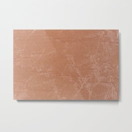 Beige canvas cloth texture abstract Metal Print