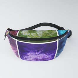 Closing Queen Anne's Lace Collage (Horizontal) Fanny Pack