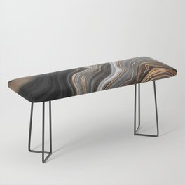Elegant black marble with gold and copper veins Bench