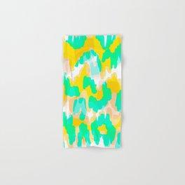 Sara - bright turquoise, green, blue abstract art Hand & Bath Towel