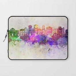 Thessaloniki skyline in watercolor background Laptop Sleeve
