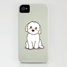 Shih Tzu and Maltese Mix Puppy Illustration Slim Case iPhone (4, 4s)