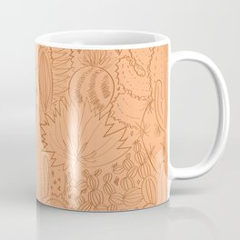 Cactus Scene in Orange Coffee Mug