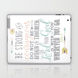 Joshua 1:9 Christian Bible Verse Typography Design Laptop & iPad Skin