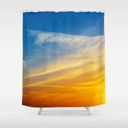 Sunset Confucius Quote Shower Curtain