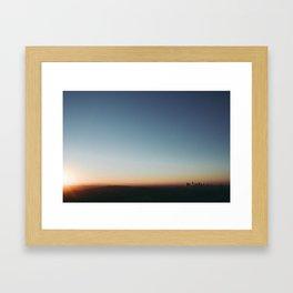 Sunrise in Hollywood Framed Art Print