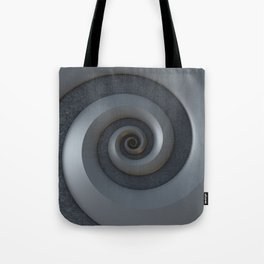 Gray 3-D Spiral Tote Bag