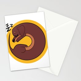 Sleepy Dachshund Stationery Cards