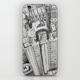 Birdseye City View iPhone Skin