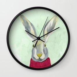 Warm Bunny Wall Clock