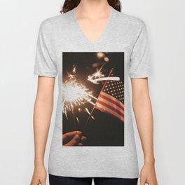 Happy America Unisex V-Neck