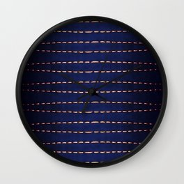 Abstract Dotted Lines Background Wall Clock