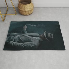 Old Gangster Smoking Rug