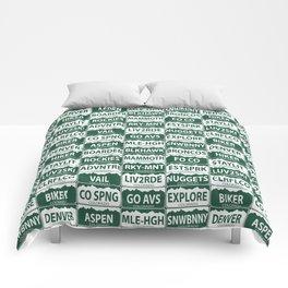 Colorado plates Comforters