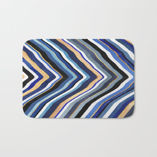 Blue Slice Bath Mat