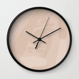 Nude large abstract painting Wall Clock