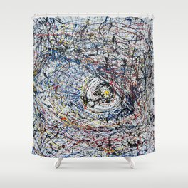 One of Pollock's eye Shower Curtain