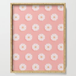 Pink Daisies  Serving Tray