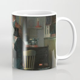 Waiting for the Stage Oil Painting by Richard Caton Woodville Coffee Mug