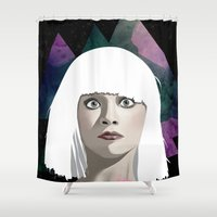 chandelier Shower Curtains featuring Chandelier by Vuelle