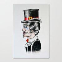 gentleman Canvas Prints featuring Gentleman by Kristian Jakobsen Sillesen