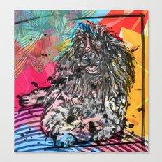 Poodle 2 pop art Canvas Print