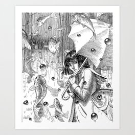 Suspended Art Print