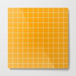 Marigold Grid Metal Print