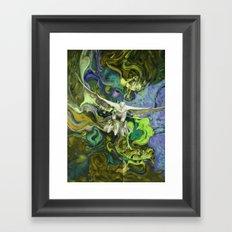 Freedom green Framed Art Print