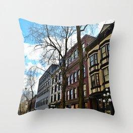 gastown Throw Pillow