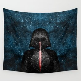 Darth Vader with Lightsaber in Galaxy Wall Tapestry