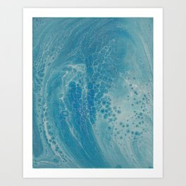 Wave Breaker Art Print