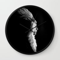 native Wall Clocks featuring Native by justaaron