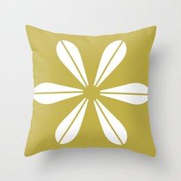LOTUS MINIMAL - olive. Throw Pillow