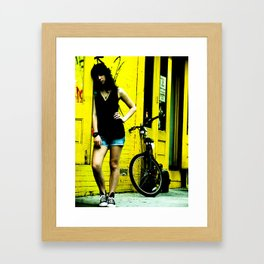 Colored  Yellow Framed Art Print