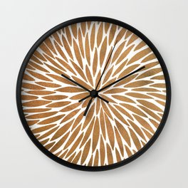 Rose Gold Burst Wall Clock