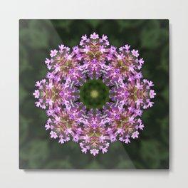 Constellation of Verbena flowers mandala Metal Print