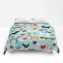 Chihuahua love hearts cupcakes valentines day gift for chiwawa lovers Comforters