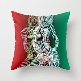 Retro Dimension Throw Pillow