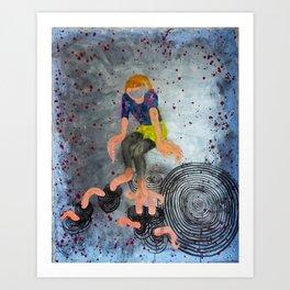 Dip Splash Art Print