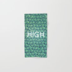HIGH TYPO! Cannabis / Hemp / 420 / Marijuana  - Pattern Hand & Bath Towel