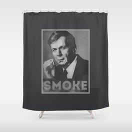 Smoke! Funny Obama Hope Parody (Smoking Man)  Shower Curtain