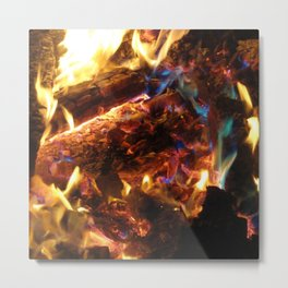 Colorful FirE Metal Print